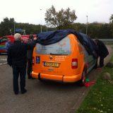 Eerste Zonnebloemauto in Hilversum